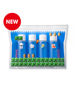 New Super Mario Clear Pouch with Small Bottles Inside.