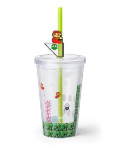 Super Mario Home & Party Tumbler with Straw and Lid (Underwater Stage)