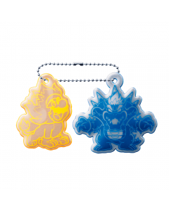 Super Mario 3D World Reflective Keychain Cat Mario And Bowser